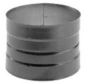 "1772 7"" Dura-black 24-ga Welded Black Stovepipe Adaptor, Double Skirted"