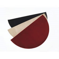 "47157 Crimson Half Round Hearth Rug, 72"" x 36"", Synthetic Fibers"