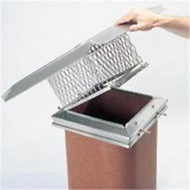 """13055 12"""" x 12"""" Gelco EasyClean Cap, Hinged Cage, 304-Alloy"""