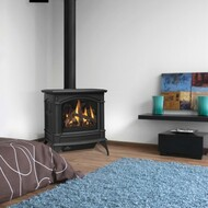 NAPOLEON GDS60-1NSB Cast Iron Direct Vent Gas Stove - Painted Black