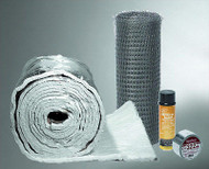 "Chimney Liner Insulation Kit for 3"" 4"" 5"" 6"" Diameter By 25' Length X 1/4"" Thick"