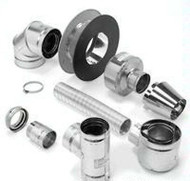 4DT-VPHKB Metal Best Pellet & Corn Vent Up & Out Horizontal Termination Kit