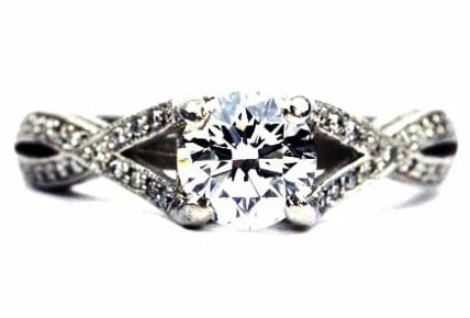 Unique Split Shank Engagement Ring