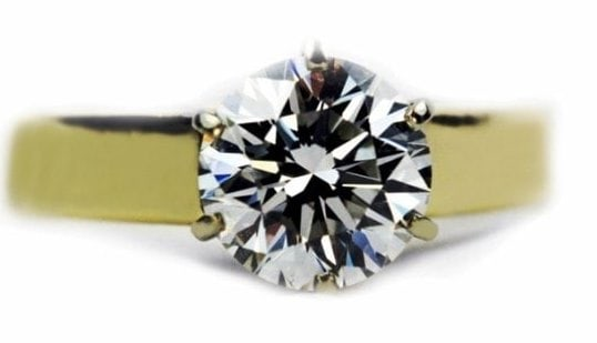 ideal round classic ring six prongs
