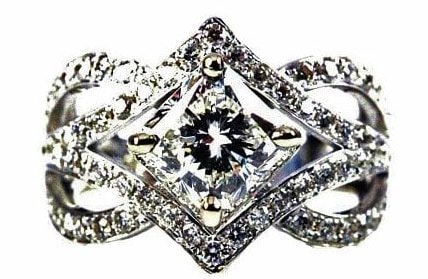 Kite Style Engagement Rings