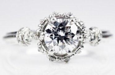 Vintage style ring diamond