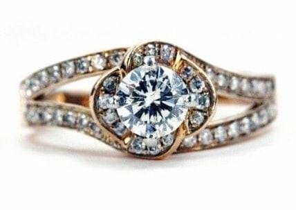Swirl Rose Gold Engagement Ring