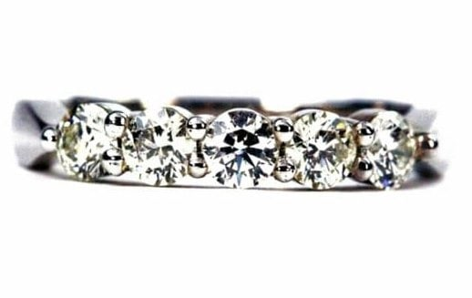 Five Stone Band Ring