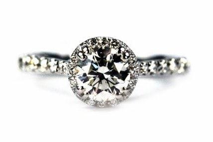 Unique Halo Engagement Ring Top