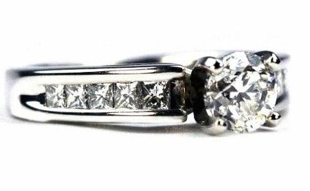 Unique Channel Engagement Ring