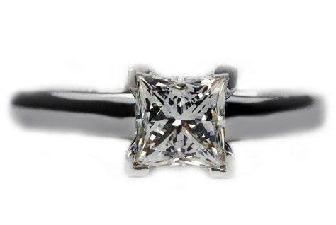 V Prongs Princess Cut Ring