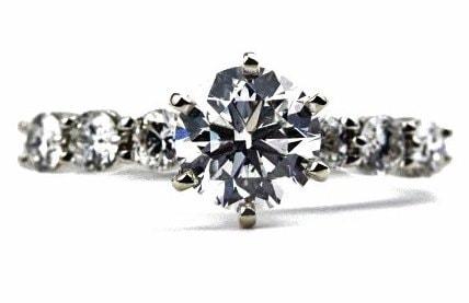 Floating Diamond Engagement Ring