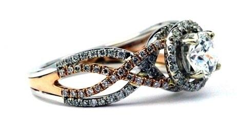 Unique swirl engagement ring
