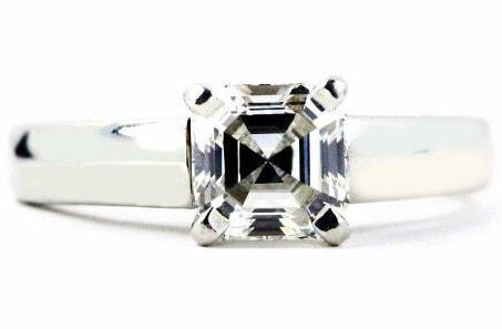 Ideal asscher cut Engagement Ring