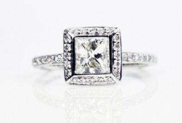 Bezel Princess Cut Diamond Ring