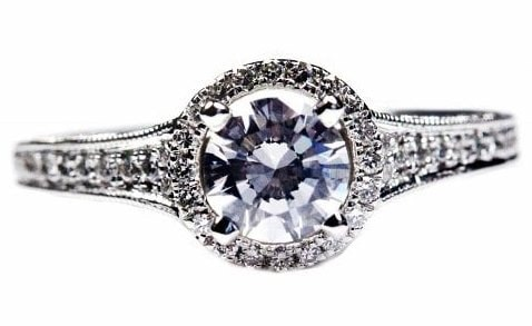 Contemporary Halo Design Engagement Ring
