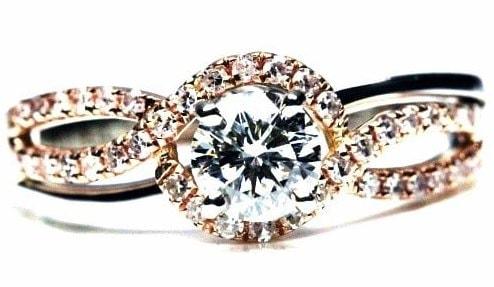 Infinity Design Engagement Ring