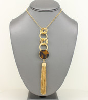 Long Tortoise Tassel Necklace