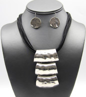 Tube Pendant Craft Necklace Set