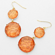 Transparent Double Dome Drop Earrings