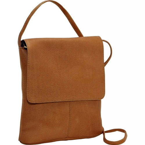 Vertical Flap Over Shoulder Bag - LeDonne Leather Co.