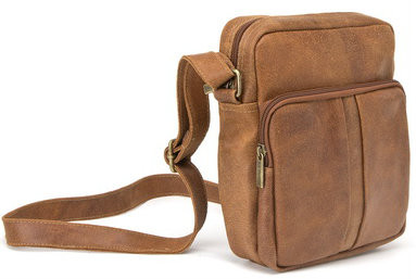 Distressed Leather Mens Day Bag - LeDonne Leather Co.