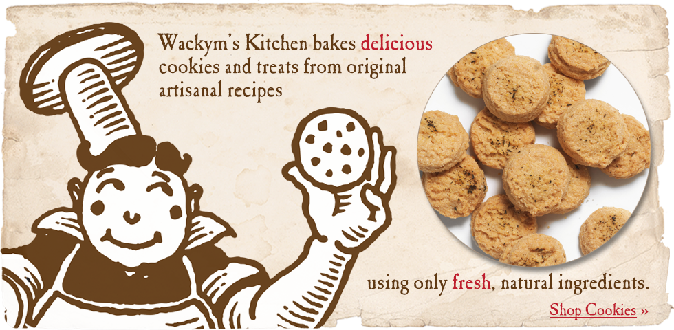 Wackym's Kitchen bakes delicious cookies and treats from original artisanal recipes, using only fresh, natural ingredients.