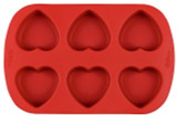 Wilton 6 Heart Shape Silicone Moulds