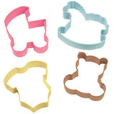 Wilton Baby 4pc Colored Theme Set