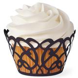 Wilton Black Swirl Cupcake Wraps