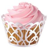 Wilton White Pearl Swirl Cupcake Wraps