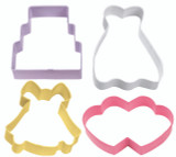 Wilton 4 Piece Wedding Cookie Cutter Set