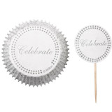 Wilton Silver Celebrate Cupcake Combo Pack