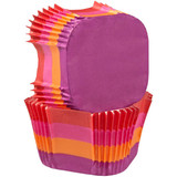 Wilton Warm Stripes Square Baking Cups