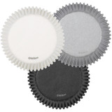 Wilton White/Black/Silver Standard Baking Cups