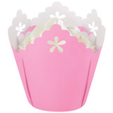 Wilton Pink Flower Pleated Baking Cups
