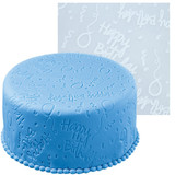 Wilton Happy Birthday Fondant Imprint Mat