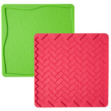 Wilton Grass/Brick 2-pc Silicone Texture Mat Set