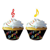 Musical Notes Cupcake Wrappers