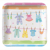 Baby Clothes Square Plates