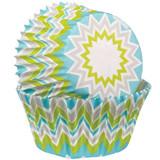 Wilton Chevron Lime Baking Cups Standard