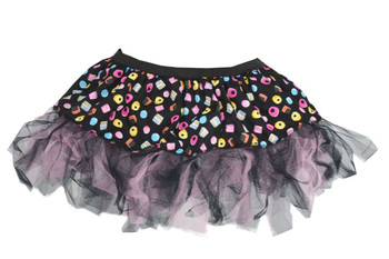 "Ladies 12"" Liquourice Allsorts Mad Hatter Cyber Tutu Fancy Dress"