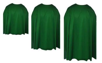 Emerald Green Custom Made Super Hero Cape Fancy Dress Accessory