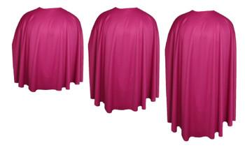 Fuschia Pink Custom Made Super Hero Cape Fancy Dress Accessory