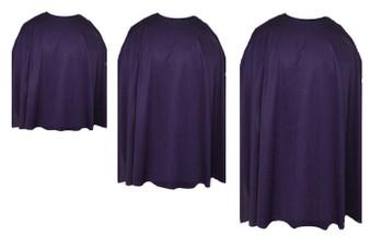 Plum Purple Custom Made Super Hero Cape Fancy Dress Accessory