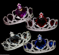 Princess Tiara Tiaras Large Gem Heart Gems Valentines Fairy Fancy Dress