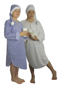 Childrens Night Gown & Hat Childs Christmas Panto Fancy Dress Book Week