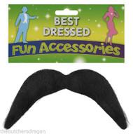 Mexican Style Black Moustache Fancy Dress UK Gringo Bandit Tash