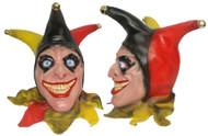 Full Head Buffon Evil Wicked Jester Latex Hand Painted Clown Fancy Dress