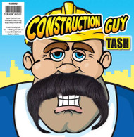 Unisex Builders Construction Guy Brown Fake Tash Accessory